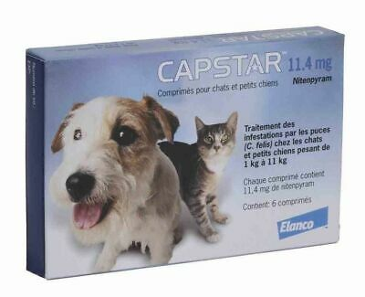 Capstar-Blue   for Cats and Small Dogs 2 - 25 lbs 6 tablet -11 mg