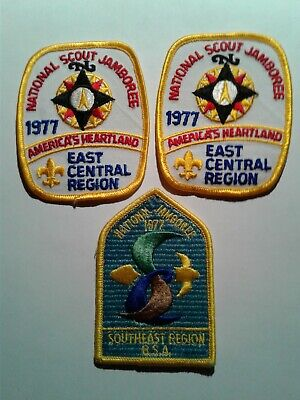 BSA 1977 Jamboree Southeast and East Central (2) Region scout patches