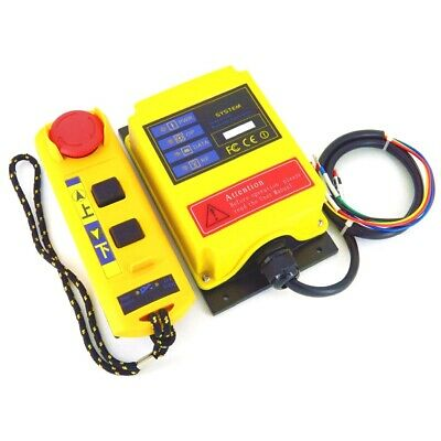 A2S Industrial Electric Hoist Crane Remote Control Switch 1 Receiver Transmitter
