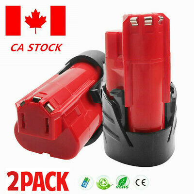2× For Milwaukee M12 48-11-2420 48-11-2401 REDLITHIUM 2.0 Compact Battery Pack