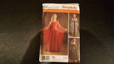 Simplicity  Pattern 1045 MIsses' Costume Gowns SZ 14-20 New UC FF