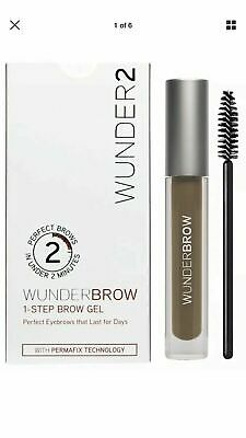 Wunderbrow Wunder2 Brunette 1-Step Brow Gel only 3g 2-Min to Perfect Brows