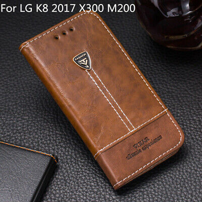 For LG K8 2017 X300 M200 Phone Case Flip PU Leather Cover Book Stand Wallet CARD