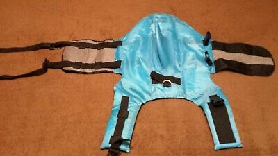 Swimways Sea Squirts Dog Life Vest w/ Fin for Doggie Swimming Safety Color Blue