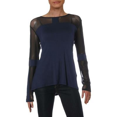 d4718be8af DKNY Sport Womens Navy Fitness Yoga Running Pullover Top Athletic L BHFO  4361