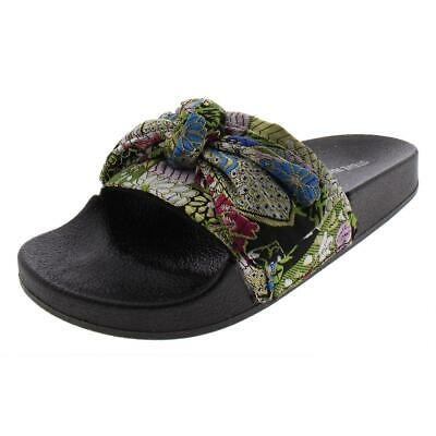 d1a9d90ebaed Steve Madden Womens Silky Bow Casual Pool Slide Sandals Shoes BHFO 3021