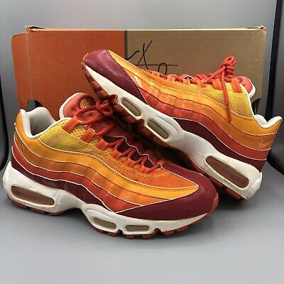 sale retailer 2fff1 7a871 Nike Air Max 95 Human Torch Orange Yellow Red White Size 9 Rare 609048-681