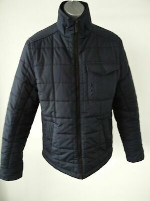 Womens Next Navy Padded Puffa Quilted Jacket Coat S Small