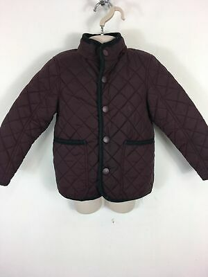 Girls Next Burgundy Quilted Lightly Padded Concealed Hood Jacket Coat Age 4 Yrs