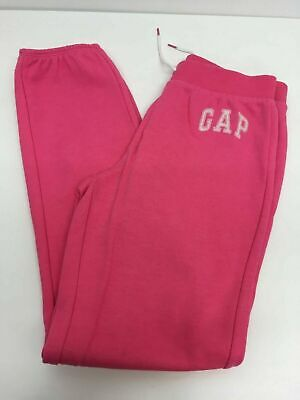 Girls Gapkids Bright Pink Cotton Jogging Bottoms Fleece Lined Lounge Pants 13Yrs
