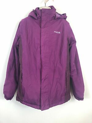 Girls Regatta Pink Logo Embroidered Hooded Zip Velcro Lightweight Coat 13-14 Yr