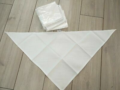 Bnwt Chef Cooks White Neckerchief Bandanna Scarf Pack 10