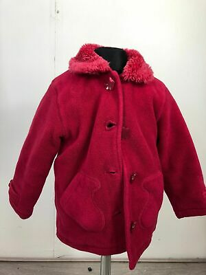 Girls Next Pink Long Sleeve Hooded Button Duffle Coat Jacket Size 2-3 Years
