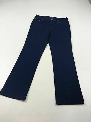 Girls Polo Ralph Lauren Navy Blue Straight Leg Stretch Trousers Size Uk 8 Yrs