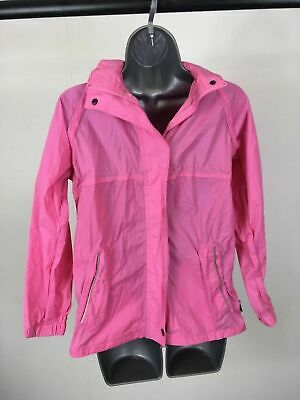 Girl's Child's Regatta Waterproof Breathable Pink Hooded Zip Up Jacket 11-12 YRS