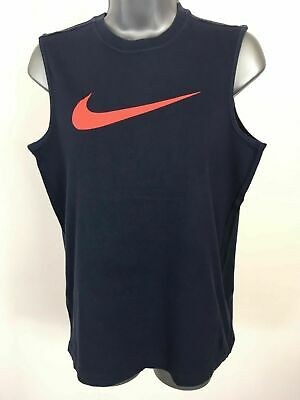 Child's Nike Navy Coral Sleeveless Vest Top Sports Training Gym Age 12-13 Yrs