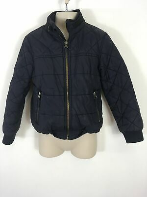 Boys M&S Outdoor Expedition Navy Quilt Zip Up Lightly Padded Jacket Coat Age 7-8