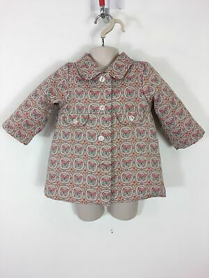 Girls H&M Pink Multi Butterfly Design Button Up Smart Jacket Coat Age 9-12 Mths