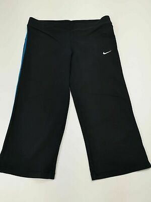 Kids Girls Nike Navy Blue Leggings Yoga Sport Joggers Bottoms L Large 14-16 Yrs