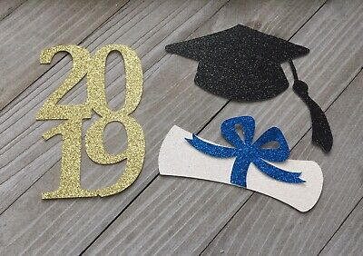 2019 Graduation Cut Outs, Grad Cap And Diploma, Graduation Party, 12 Pieces