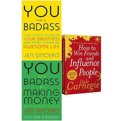 How To Win Friends And Influence People,You Are A Badass 3 Books Collection Set