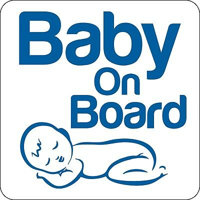 Magnetic Baby on Board sign 18cm x 18cm