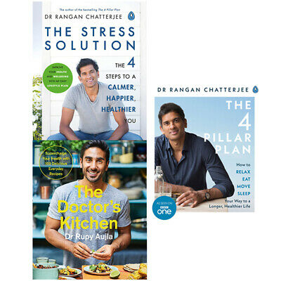 The Stress Solution,The 4 Pillar Plan,The Doctors Kitchen 3 Books Collection Set