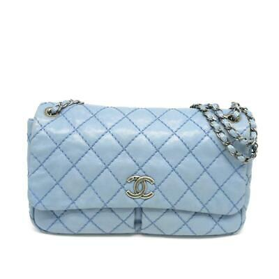 8f7a3b0121e7 CHANEL NAVY BLUE Black Quilted Lambskin Leather Misia Camera Flap ...