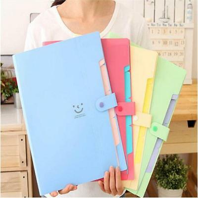 A4 Paper Expanding File Folder Pockets Accordion Document Organizer Storage JA