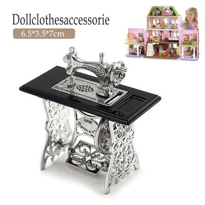 1:12 Miniature Decorated Sewing Machine Furniture Toys for Barbie Doll House