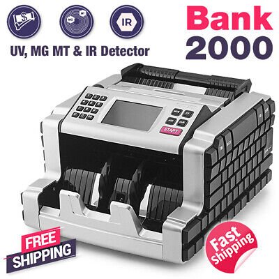 Biosystem Electric Bank Use Money Bill Note Counter Cash Counting Machine UV MG