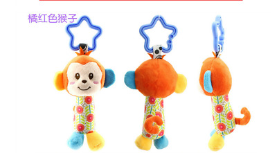 New Kids Baby Soft Animal Handbells Rattles Bed Stroller Bells Developmental