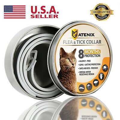 Dewel Flea and Tick Control Collar Anti-insect Mosquitoes for Cats Pets 8 Months