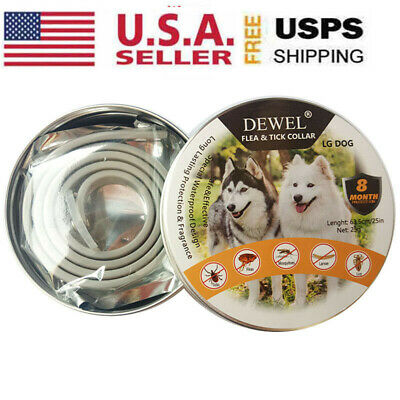 Dewel Pro Guard Flea and Tick Collar Adjustable Small Medium Large Dogs 8 Month