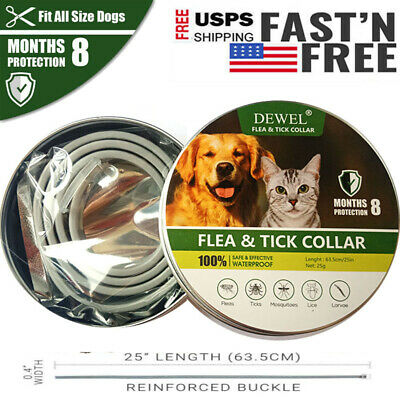 PRO Dewel Dog Cat Collar Anti Flea Tick Mosquitoes Insect for Small Medium Large