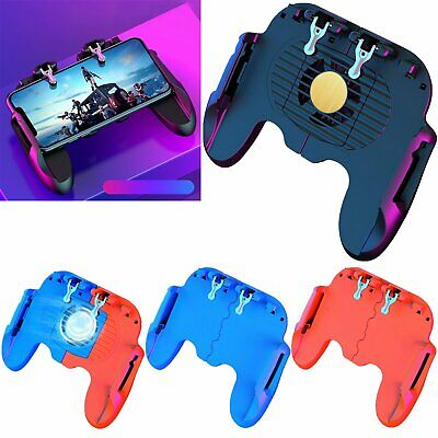 H6 Mobile Phone Controller Joystick Gamepad Cooling Fan for PUBG iOS & Android