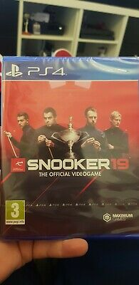 Snooker 19 - The Official Videogame - PS4 - Brand New Sealed