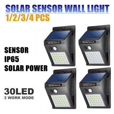 20/30/48 LED Solar Powered PIR Motion Sensor Security Lights Garden Outdoor Lamp