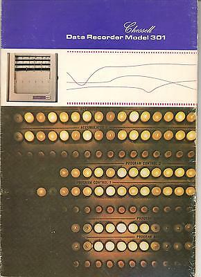 Chessell Data recorder Model 301 original specification brochure with nice pictu
