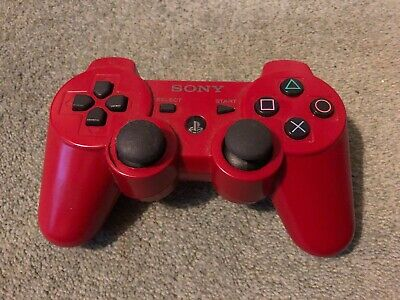 Genuine Red Sony PlayStation 3 Controller - PS3 Sixaxis Dualshock 3 Gamepad
