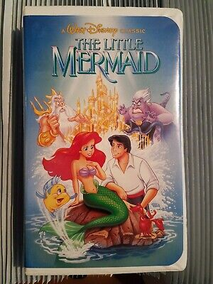 Disney's The Little Mermaid VHS Black Diamond BANNED COVER Excellent Condition