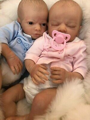 Cherish Dolls Realborn® Twins Clyde And Carice Reborn Doll Baby Boy Girl 18""