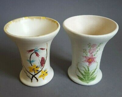 Matched Pair Vintage Radford Hand Painted Pottery Vases Vase No.667 1930-50s :S4