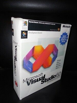 Servers, Development & Dbms 2019 Latest Design Microsoft Visual Studio 6.0 6 Enterprise Basic Foxpro C+ 628-00403 Retail Box Computers/tablets & Networking