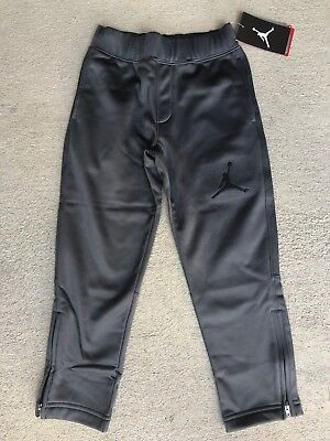 b2d5bf95db9 Nike Jordan Boys grey zipper Therma-FIT Jogger Basketball Pants 853090 4 5  6 7