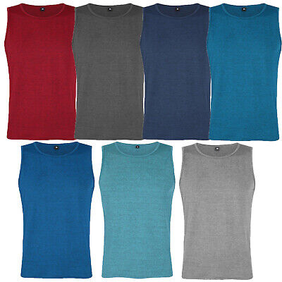 Mens Vests Tank Top Summer Training Gym Tops Pack Space Dye  S-2Xl