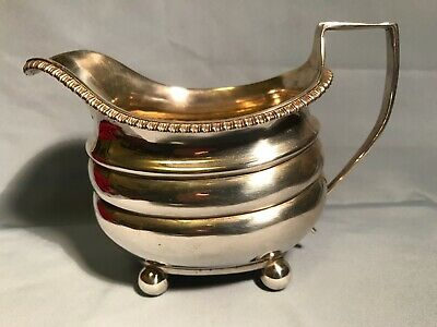 ANTIQUE ENGLISH STERLING SILVER CREAM JUG  LONDON 1810 George III