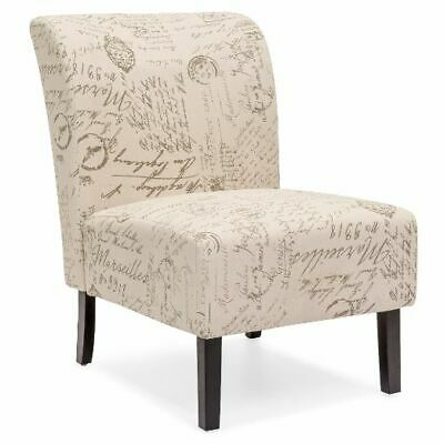 Modern Contemporary Upholstered Armless Accent Chair/Old-Fashioned English print