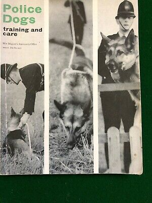 Her Majesty's Stationary Office Police Dogs: Training and Care 1963