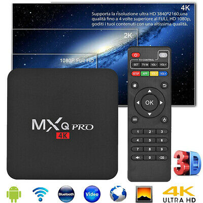 MXQ Pro 4K 3D 64Bit Android 7.1 Quad Core Smart TV Box 1080P WIFI Media Player